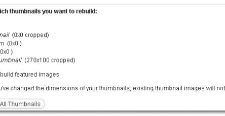 Ajax Rebuild Thumbnails